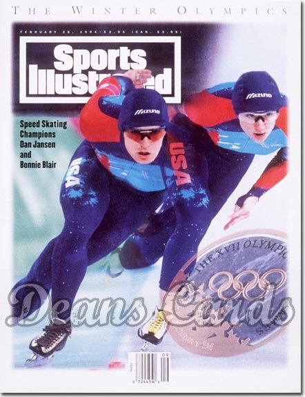 1994 Sports Illustrated - With Label   February 28  -  Bonnie Blair / Dan Jansen (Olympics Speed Skating)