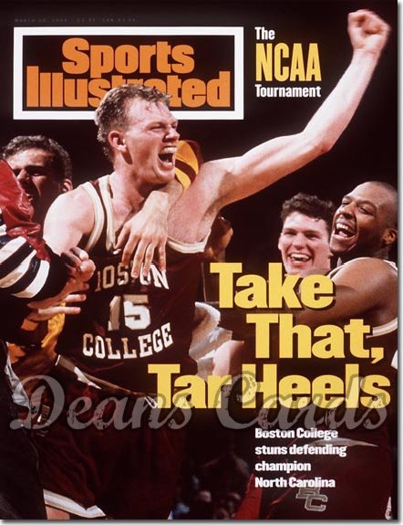 1994 Sports Illustrated - With Label   March 28  -  Bill Curley (Boston College Eagles)