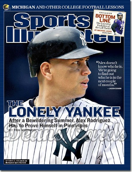 2006 Sports Illustrated   September 25  -  Alex Rodriguez Arod NY Yankees Sports