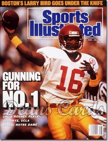 1988 Sports Illustrated - No Label   November 28  -  Rodney Peete (USCTrojans)