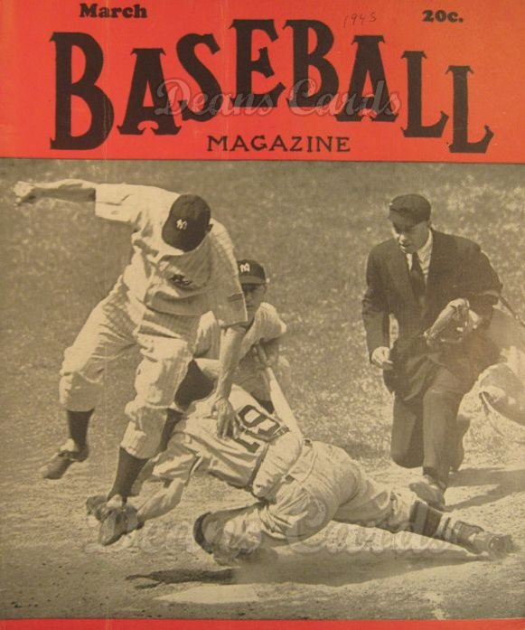 1945 Baseball Magazine    March