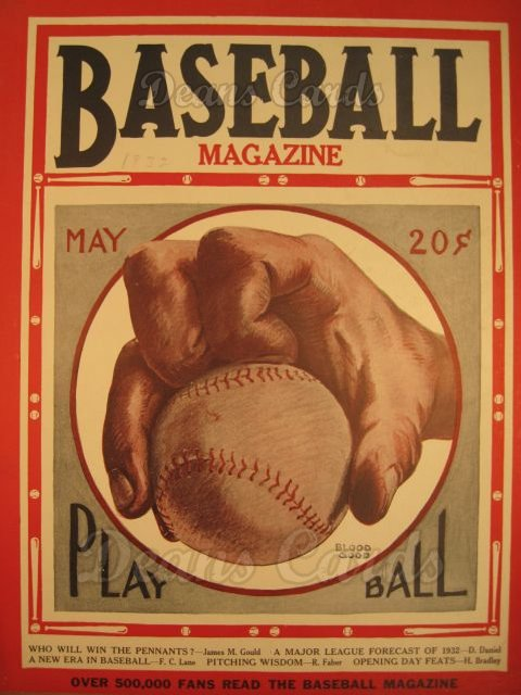 1932 Baseball Magazine    May