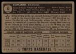 1952 Topps #12  Monty Basgall  Back Thumbnail
