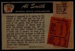 1955 Bowman #20  Al Smith  Back Thumbnail
