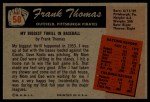 1955 Bowman #58  Frank Thomas  Back Thumbnail