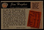 1955 Bowman #156  Jim Hughes  Back Thumbnail