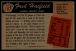 1955 Bowman #187  Fred Hatfield  Back Thumbnail