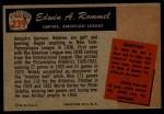 1955 Bowman #239  Edwin Rommel  Back Thumbnail