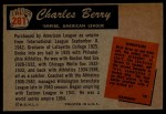 1955 Bowman #281  Charles Berry  Back Thumbnail
