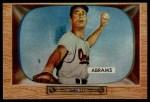 1955 Bowman #55  Cal Abrams  Front Thumbnail