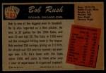 1955 Bowman #182  Bob Rush  Back Thumbnail