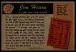 1955 Bowman #220  Jim Hearn  Back Thumbnail