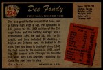 1955 Bowman #224  Dee Fondy  Back Thumbnail