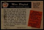 1955 Bowman #292  Marv Blaylock  Back Thumbnail