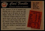 1955 Bowman #169  Carl Furillo  Back Thumbnail
