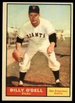 1961 Topps #96  Billy O'Dell  Front Thumbnail