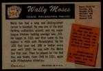 1955 Bowman #294  Wally Moses  Back Thumbnail