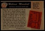 1955 Bowman #131  Willard Marshall  Back Thumbnail