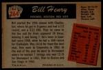 1955 Bowman #264  Bill Henry  Back Thumbnail