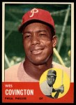 1963 Topps #529  Wes Covington  Front Thumbnail