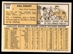 1963 Topps #546  Hal Reniff  Back Thumbnail