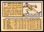 1963 Topps #561  Mike de la Hoz  Back Thumbnail