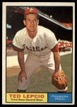 1961 Topps #234  Ted Lepcio  Front Thumbnail
