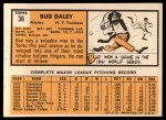 1963 Topps #38  Bud Daley  Back Thumbnail