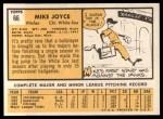 1963 Topps #66  Mike Joyce  Back Thumbnail