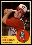 1963 Topps #90  Gordy Coleman  Front Thumbnail