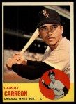 1963 Topps #308  Camilo Carreon  Front Thumbnail