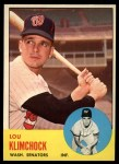 1963 Topps #542  Lou Klimchock  Front Thumbnail