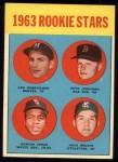 1963 Topps #253   -  Deacon Jones / John Wojcik / Pete Jernigan / Len Gabrielson Rookie Stars Front Thumbnail