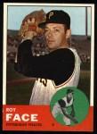 1963 Topps #409 xTOU Roy Face  Front Thumbnail