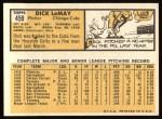 1963 Topps #459  Dick LeMay  Back Thumbnail