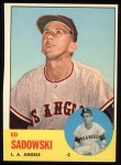 1963 Topps #527  Ed Sadowski  Front Thumbnail