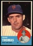 1963 Topps #495  Frank Thomas  Front Thumbnail