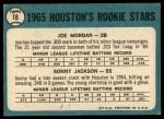 1965 Topps #16   -  Joe Morgan / Sonny Jackson Houston Rookies Back Thumbnail