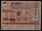 1958 Topps #37  Mike McCormick  Back Thumbnail
