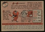 1958 Topps #67  Joe Ginsberg  Back Thumbnail