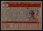 1957 Topps #3  Dale Long  Back Thumbnail