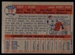 1957 Topps #19  Bob Wilson  Back Thumbnail
