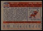 1957 Topps #168  Frank Lary  Back Thumbnail