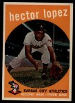 1959 Topps #402  Hector Lopez  Front Thumbnail