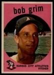 1959 Topps #423  Bob Grim  Front Thumbnail