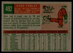 1959 Topps #492  Gene Conley  Back Thumbnail