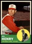 1963 Topps #378  Bill Henry  Front Thumbnail