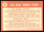 1964 Topps #356   -  Bill McCool / Chico Ruiz Reds Rookies Back Thumbnail