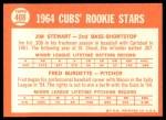 1964 Topps #408   -  Jim Stewart / Fred Burdette Cubs Rookies Back Thumbnail