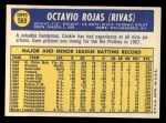 1970 Topps #569  Cookie  Rojas  Back Thumbnail